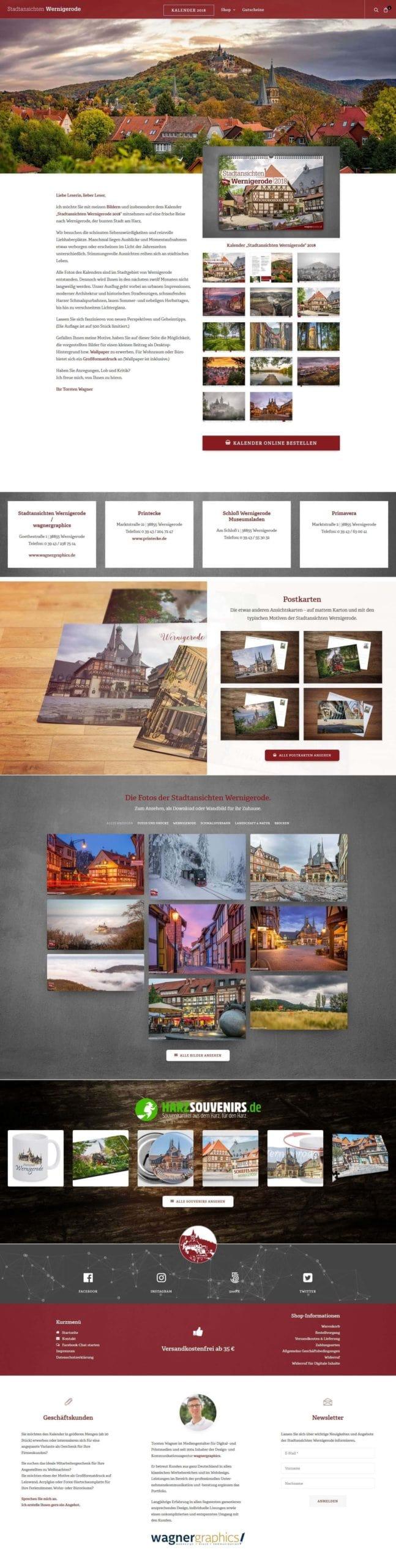 Webdesign für Stadtansichten Wernigerode