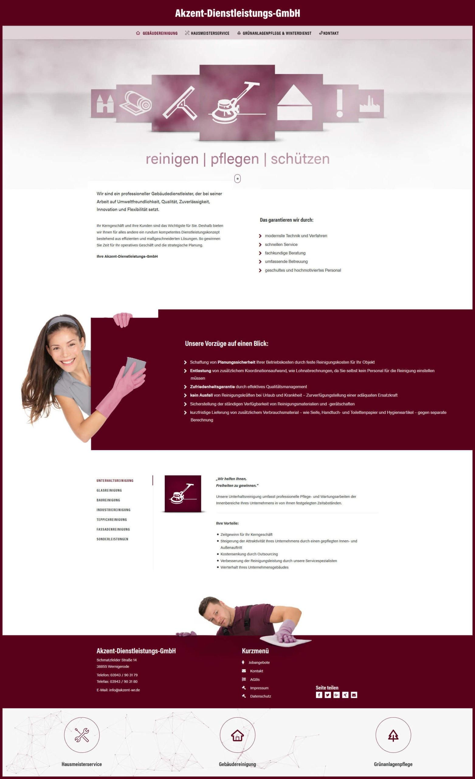 Webdesign | Akzent-Dienstleistungs-GmbH, Wernigerode
